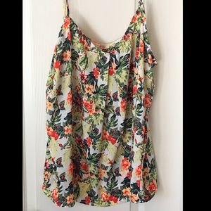 Skies are blue floral tank NWT